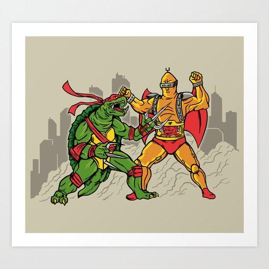 Teenage Mutant Gamera Ninja Art Print