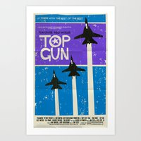top gun Art Prints featuring Top Gun by Mark Welser
