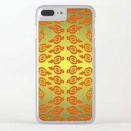 Arrows pattern Clear iPhone Case
