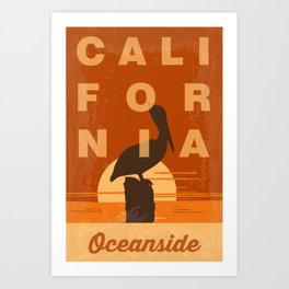 Oceanside California. Art Print