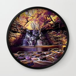 Goit Stock Waterfall Art Wall Clock