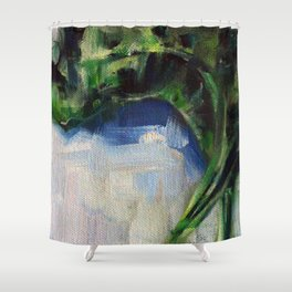 Spinach Shower Curtain