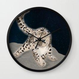 Ghost Leopard Wall Clock