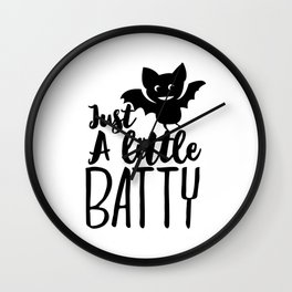 Funny Halloween Gifts - Just a Little Batty Wall Clock