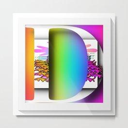 MONOGRAM INITIAL D Metal Print