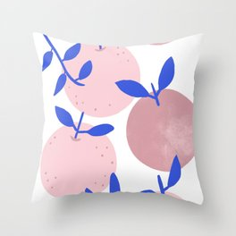 Modern clementines in blush Throw Pillow
