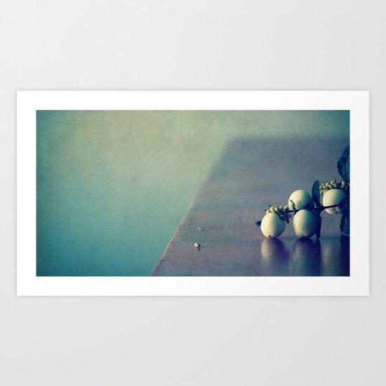 white balls II Art Print