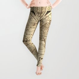 World Map circa 1643 (Nova Totivs Terrarvm) Leggings