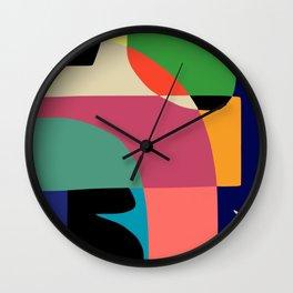 Framed Abstract Wall Art, Modern Art Print, Mid Century Modern Wall Clock