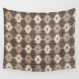 Ceplok Teruntum Traditional Indonesian Batik Pattern Wall Tapestry