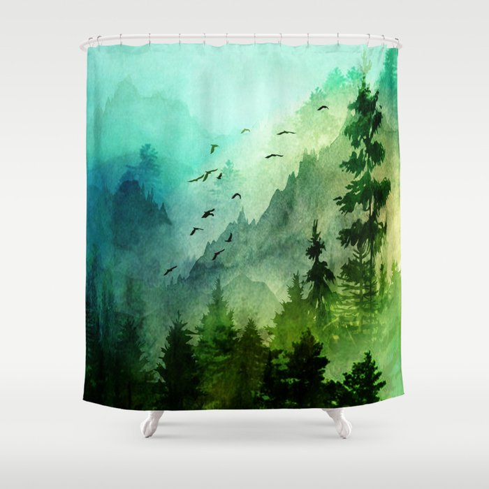 Mountain Morning Shower Curtain