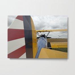 Vintage Biplane Metal Print