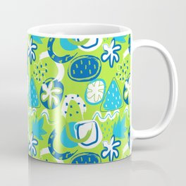 Brushstroke Abstracts - blue and green Coffee Mug