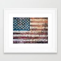 america Framed Art Prints featuring america  by Roquito