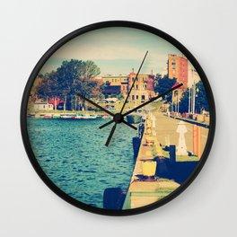 Harbor At Marquette Michigan Wall Clock