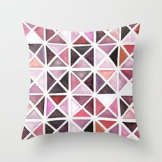 Geometric watercolor Throw Pillow