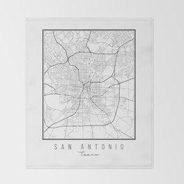 San Antonio Texas Street Map Throw Blanket