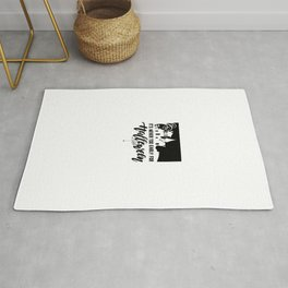 (tshirt) It's Never Too Early For Halloween (black fill) Rug