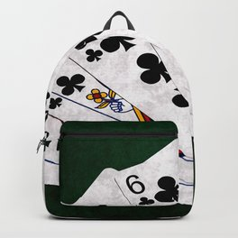 Poker Hand Flush Clubs Backpack