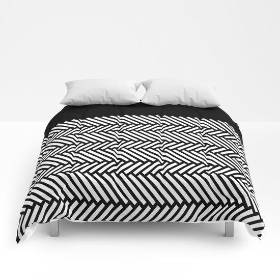Herringbone Boarder Comforters