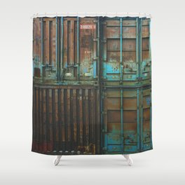 Container rouille 5 Shower Curtain