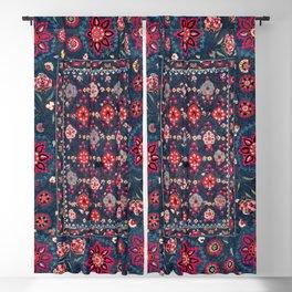 Lakai Suzani Shakhrisyabz Uzbek Embroidery Print Blackout Curtain