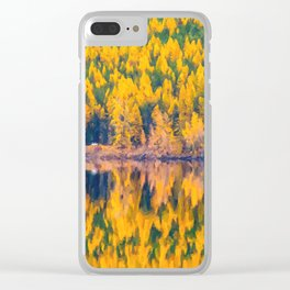 Lake Reflections in the Fall Clear iPhone Case