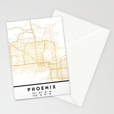 PHOENIX ARIZONA CITY STREET MAP ART Stationery Cards