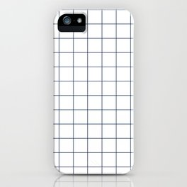 Chek - check grid simple minimal black and white modern urban brooklyn nashville hipster gifts iPhone Case