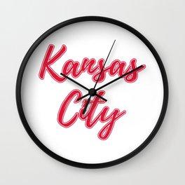 Kansas City Shirt, KC Shirt, Football Shirt, Kansas City Gift, KC, Gift for Him, Gift for Her, Game Wall Clock