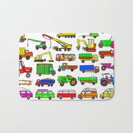 Doodle Trucks Vans and Vehicles Bath Mat