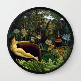 The Dream by Henri Rousseau (1910) Wall Clock