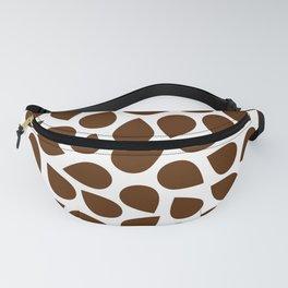 Brown Petal Pattern Fanny Pack