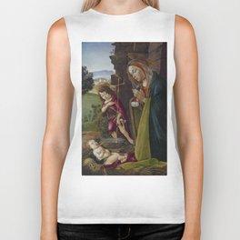 "Sandro Botticelli ""Adoration of Christ with Saint John"" Biker Tank"