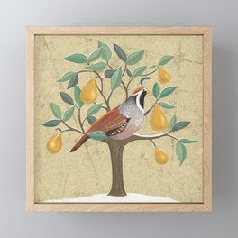 Partridge in a Pear Tree Framed Mini Art Print