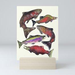 Salmon Fish Chart Mini Art Print