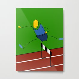 Hurdler / athlete Metal Print