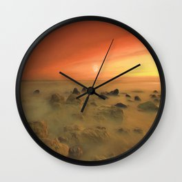 Moon Rocks Wall Clock