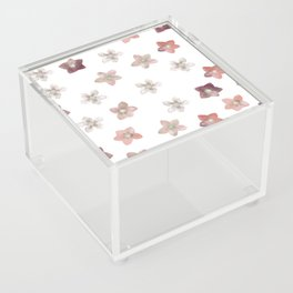 Flower Christmas Rose on white Acrylic Box