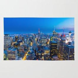 Manhattan - View from Top of the Rock - Rockefeller Center - New York Rug