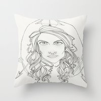 allison argent Throw Pillows featuring Allison by Wolfhearted