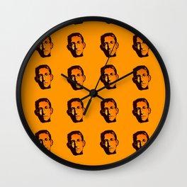 EDWARD SNOWDEN - orange Wall Clock