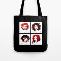 suits Tote Bags featuring The Suits by AndytheLemon
