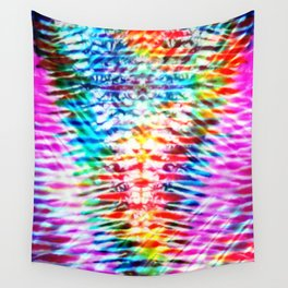 Crumpled Rainbow V Tie Dye Wall Tapestry
