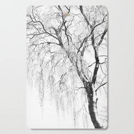 White snow tree Cutting Board
