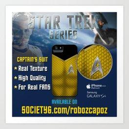 Star Trek Series - Captain Suit Art Print