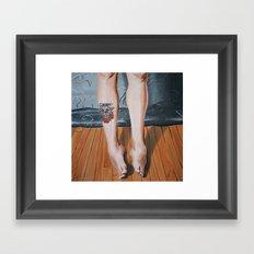 Legs. Framed Art Print
