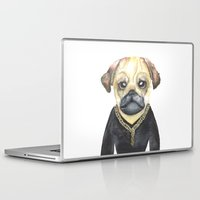 gangster Laptop & iPad Skins featuring Dog Gangster by Lucie Sperry
