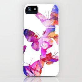 Pink Butterflies iPhone Case