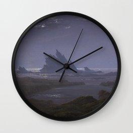 Reefs by the Seashore by Caspar David Friedrich Wall Clock